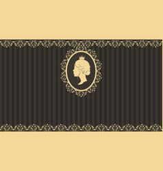 vintage greeting card design vector image