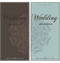 Wedding card flyer pages ornament vector image
