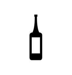 wine bottle icon in on white background vector image