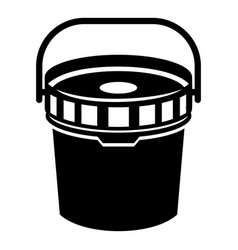 work bucket icon simple style vector image