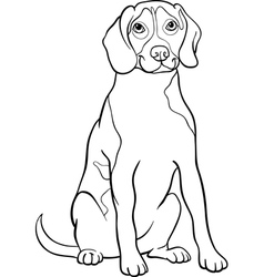 beagle dog cartoon for coloring book vector image vector image
