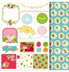 Design Elements - Strawberry vector image vector image
