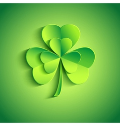 Holiday Patricks day card green with leaf clover vector image vector image