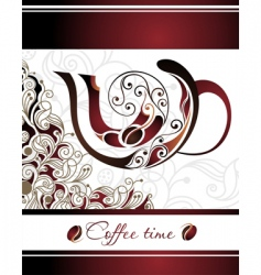 vector illustration of coffee vector image vector image