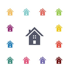building flat icons set vector image