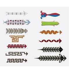 Greek arrows vector image
