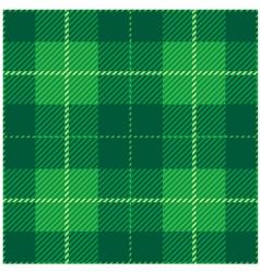 Green Tartan Plaid Design vector image vector image