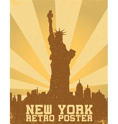 retro new york background vector image