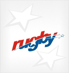 rugby logo rugby image symbol vector image vector image