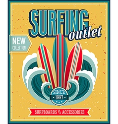 Surfing 2 vector image vector image