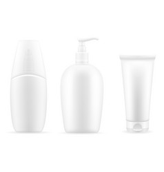 Cream lotion in a plastic container packaging vector