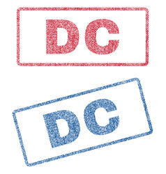 dc textile stamps vector image vector image