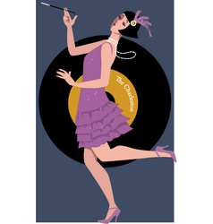 Flapper dancing the Charleston vector image