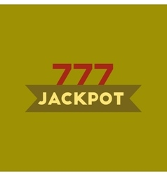 flat icon on stylish background jackpot Lucky vector image