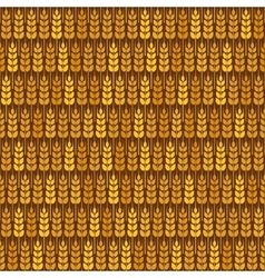 Golden wheat seamless pattern vector image