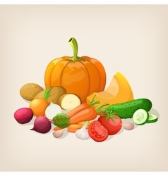 Harvest juicy and ripe vegetables vector image vector image