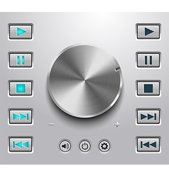 Metal volume button and setting volume buttons vector image