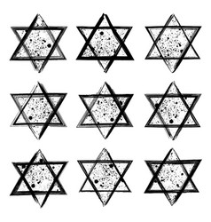 collection of the stars of david created in vector image