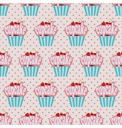 Colorful Cupcake pattern vector image