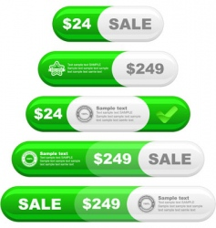 design element set for sale vector image vector image