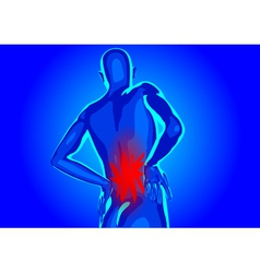 Lower back pain vector