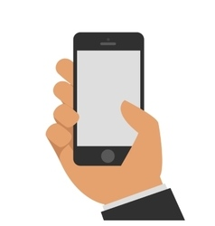 Phone in hand vector image vector image