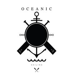 sailing icon black vector image