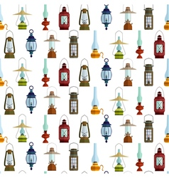 seamless pattern with lanterns vector image vector image