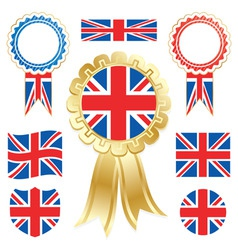 uk flags vector image vector image