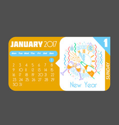 1 january happy new year 2017 vector