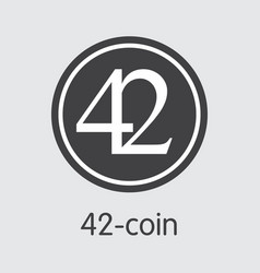 42-coin cryptocurrency 42 icon vector