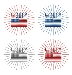4th july american independence day set vector image