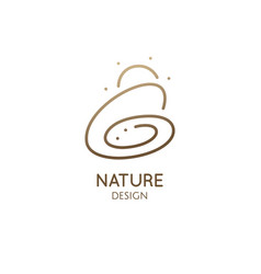 abstract nature minimalistic logo mono line vector image