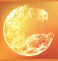 Abstract orange demolished sphere vector