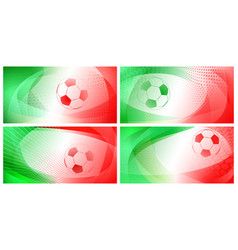 abstract soccer backgrounds vector image