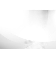 abstract white and gray circles overlapping and vector image