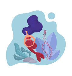 adult mermaid woman volumetric design template vector image