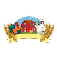 barn with blank space banner vector image