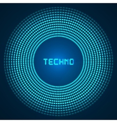 blue abstract background - circles of glowing vector image