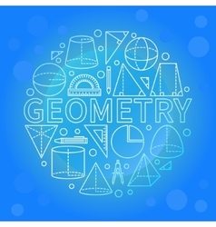 Blue geometry background vector image