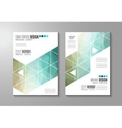 brochure template flyer design or depliant cover vector image