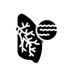 Bronchitis disease glyph icon vector