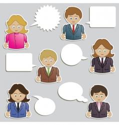 business people speech vector image