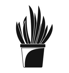 cacti pot icon simple style vector image