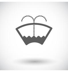 Car flat icon wiper vector image