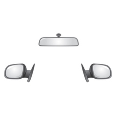 Car mirrors vector