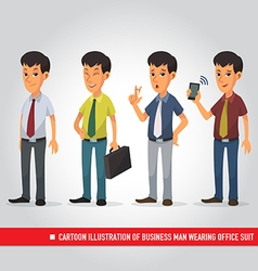 Cartoon of business man wearing office suit vector