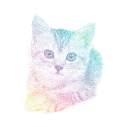 Cat in spectrum stipple vector