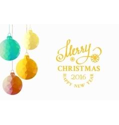 Christmas fir toy vector image