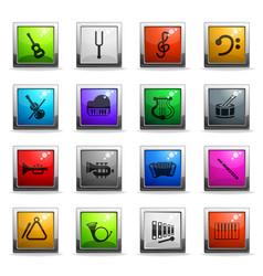 Classic instruments icon set vector